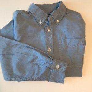 BOY'S OSHKOSH LONG SLEEVE CHAMBRAY SHIRT SIZE 8